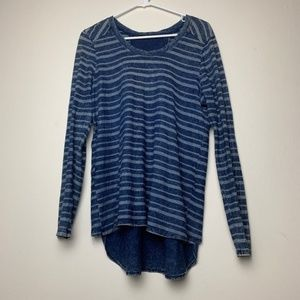 Anthropologie AMADI Open Back Striped Top